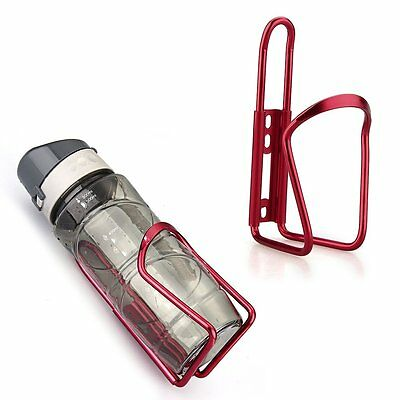 K9 Bike Bicycle Cycling Mountain Sport Water Bottle Aluminum Cage Holder Red