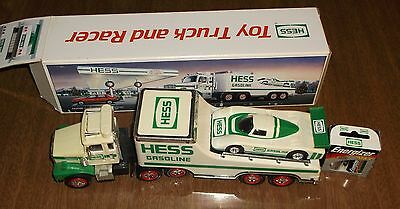 Hess Oil Lights & Sound Toy - 1988 Toy Truck & Racer - Used
