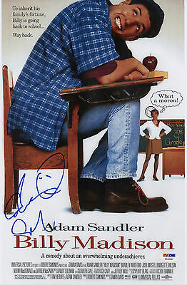 Adam Sandler Signed Billy Madison 10X15 Movie Poster Psa Coa P64298