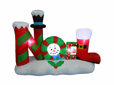 4 Foot Tall Christmas Inflatable NOEL LED Yard Garden Party Outdoor Decoration