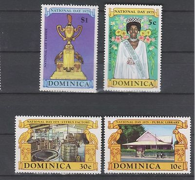 Dominica Sc. 443 - 446 National Day 1975 MNH