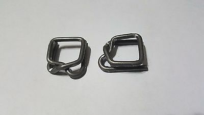 """Uline Heavy Duty Metal Buckles for Poly Strapping 1⁄2"""" - Lot of 50 pcs"""