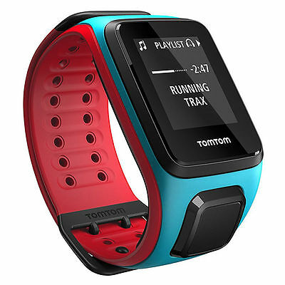 TomTom Runner 2 Music GPS Watch Sports Watch Blue Red