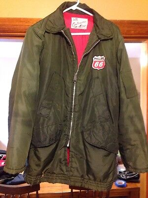 Vintage Phillips 66 Gas Station Work Coat Lee Outerwear Union Made Large