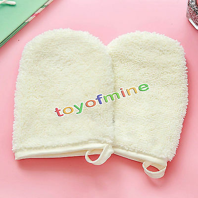 Reusable Microfiber Face Facial Cloth Towel Makeup Remover Cleansing Glove Tool