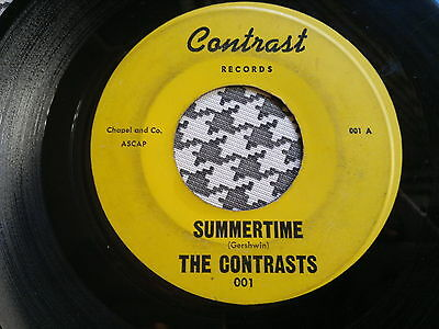 "THE CONTRASTS - Summertime - CONTRAST 45s""   R&B  Northern Soul"