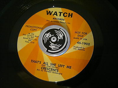 "CRECENDOS - That's All She Left Me - WATCH  45s""  Northern Soul  Crossover"