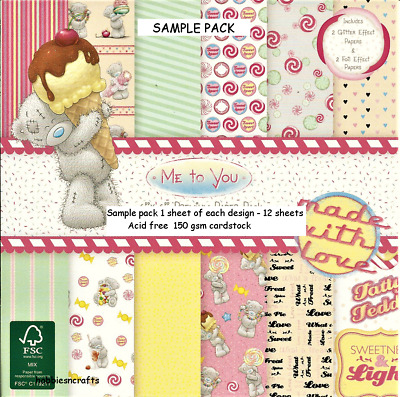 Dovecraft Me To You Tatty Teddy Süß Shop Papier 6 X 6 Muster Packung 12 Blätter