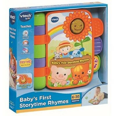 Vtech Storytime Rhymes Book Baby Musical Toy Story Kids Listen Sing Read NEW
