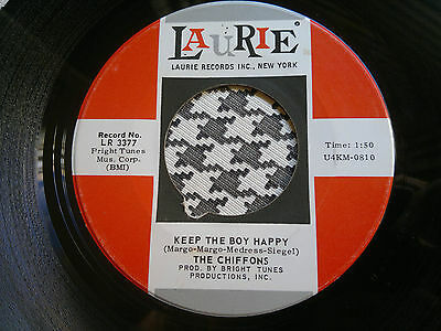 "THE CHIFFONS  - Keep The Boy Happy  - LAURIE 45s""    Northern Soul"