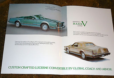 Lot of 4 Custom-Crafted 1980 Lincoln Limousines brochure catalog