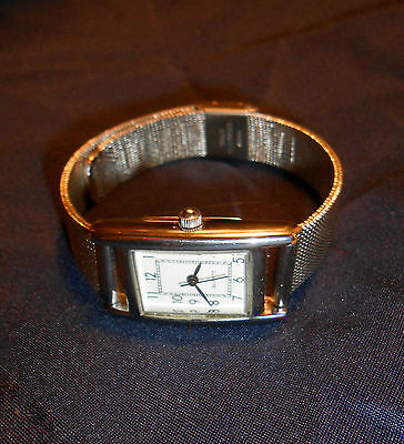 Silver Steel Quartz Watch With Silver Mesh Strap, Excellent Condition