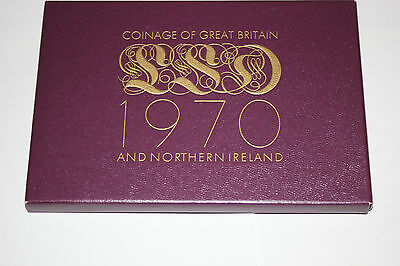 Uncirculated 1970 Coinage Of Great Britain & Northern Ireland Free S/H