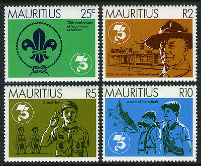 Mauritius 540-543, MNH. Scouting in Mauritius, 70th anniv.Lord Baden-Powell,1982
