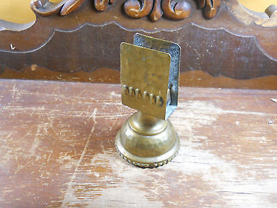 VINTAGE BRASS Patina BUSINESS CARD NOTE HOLDER