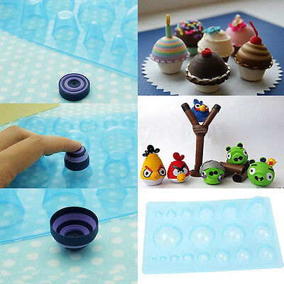 1Pc Plastic Paper Quilling Mould Half Ball Domes DIY Paper Craft Tool 13*20cm WK