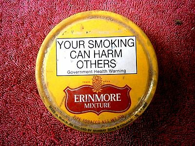 Vintage Murray's Erinmore Pipe  Tobacco   Empty  Tin  With  Original Paper