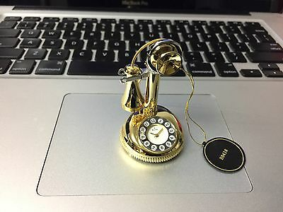 Holiday Gift: New Bulova Collectible Miniature CandleStick Telephone Clock