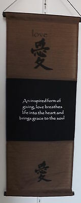 inspiration quote feng shui affirmation wall hang banner - Love - mocha
