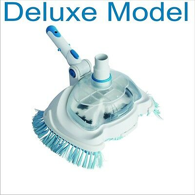 IN ABOVE GROUND swimming pool and spa Deluxe VAC Vacuum Head BRUSH cleaner
