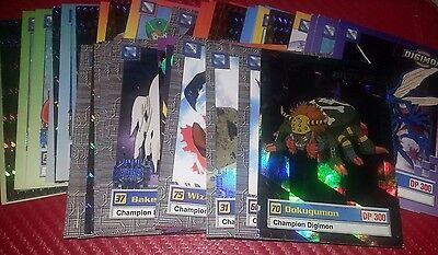 Digimon Lot. 41 TV Series Cards and 5 Cadbury Candy Bar Wrappers
