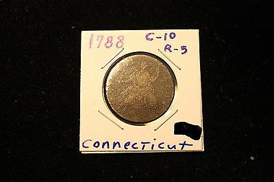 1788 Connecticut Colonial Copper Mailed Bust Left - Circulated