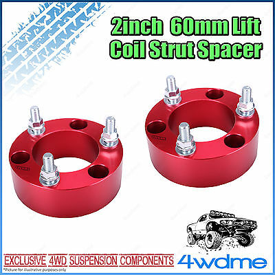 """Pair Holden Colorado RG 2011 on 4WD Front Coil Strut Spacer 2"""" 60mm Lift Kit"""