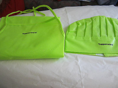 Tupperware Kids Chef hat and apron New Kids cooking dress ups Green Preschool