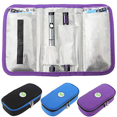 Portable Diabetic Organizer Cooler Bag Insulin Ice Pack Protector Case Injector