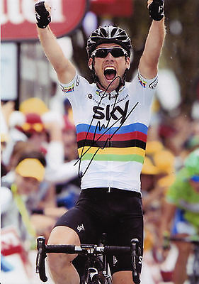 Mark Cavendish Signed Team Sky Cycling Photograph with COA