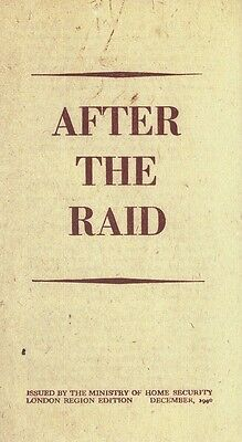 After The Raid Leaflet The Blitz World War II 1939-1945 Home Front