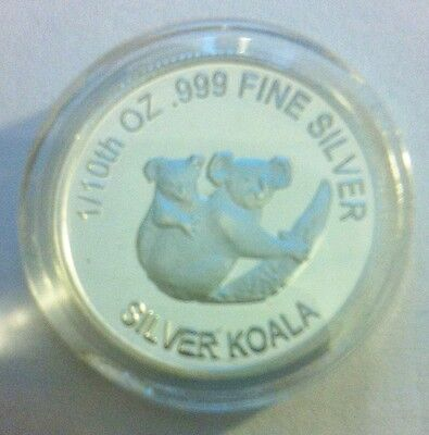 "1/10th Oz 999.0 Pure Silver Bullion Coin, ""Koala"" (Aust Series) 14 to Collect"