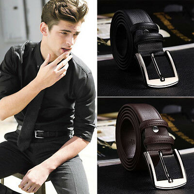 Strap Fashion Genuine Leather Buckle Belts Simple Waistband New Men's Belts