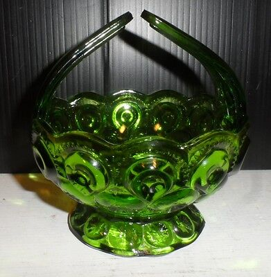 Vintage Green Moon and Star Candle Candy Dish