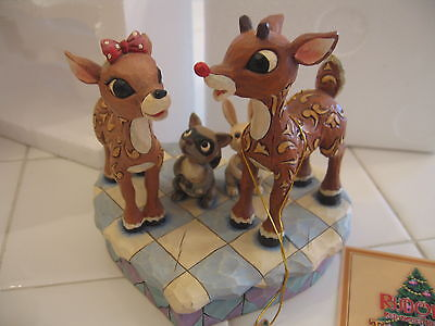 "Jim Shore Rudolph The Red Nosed Reindeer Traditions 4009800 ""Rudolph & Clarice"""