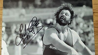 hand signed 10x8 olympic strongman geoff capes
