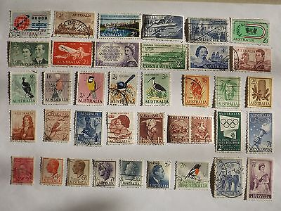 Collection of AUSTRALIA better quality pre-decimal stamps : OFF PAPER
