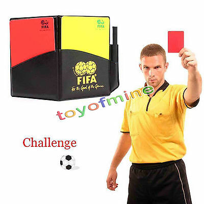 Professional Soccer Referee Wallet Football Red card Yellow Card Pencil Log Book