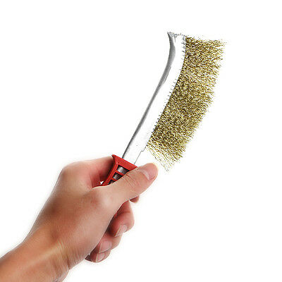 Heavy Duty Spid Wire Hand Brush Stainless Steel Bristles Rust Paint Removal New