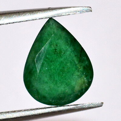 Certified Natural Emerald 9*7 mm Pear Cut 1.25 Cts Brazil Green Loose Gemstones