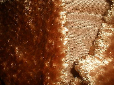 Gorgeous Synthetic Fur for Bear Making in Tan Colour