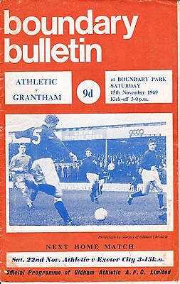 Oldham Athletic v Grantham Town FA Cup 1st Round 1969/70