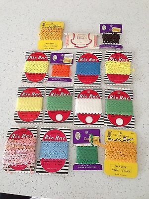 Vintage bulk lot of ric rac - sewing, scrapbooking, art
