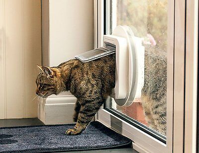 New Smart White Sureflap Microchip Cat Flap Tunnel Petsafe Free Delivery