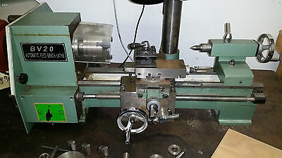 Lathe BV20 automatic feed with Milling attachment- Single Phase