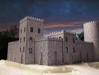 Medieval Castle Card Kit -  Building - model - various scales