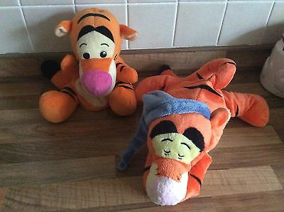 Disney Tigger  Plush Hand Glove Puppet + Microwaveable Hottie Warm Up Toy