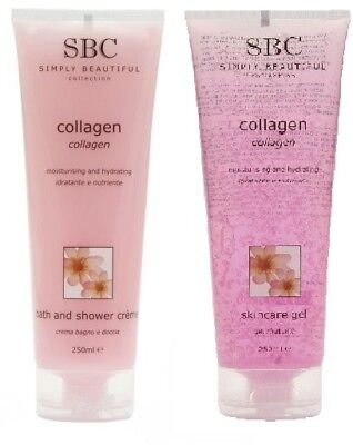 SBC Collagen Gel & Bath and Shower Creme 250ml Tube DUO