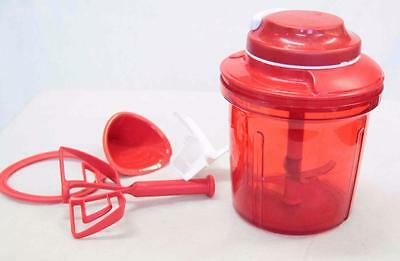Tupperware Turbo Chopper Power Chef System 7532a Red 7 inches #10524