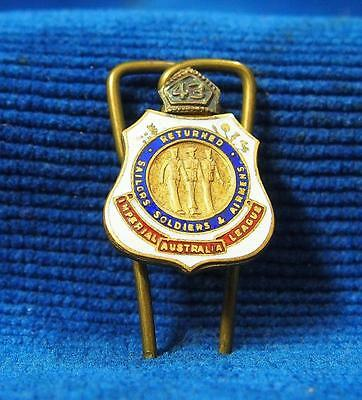 A 43 Returned Sailors Soldiers Airmens League RSL Australian Enamel Badge